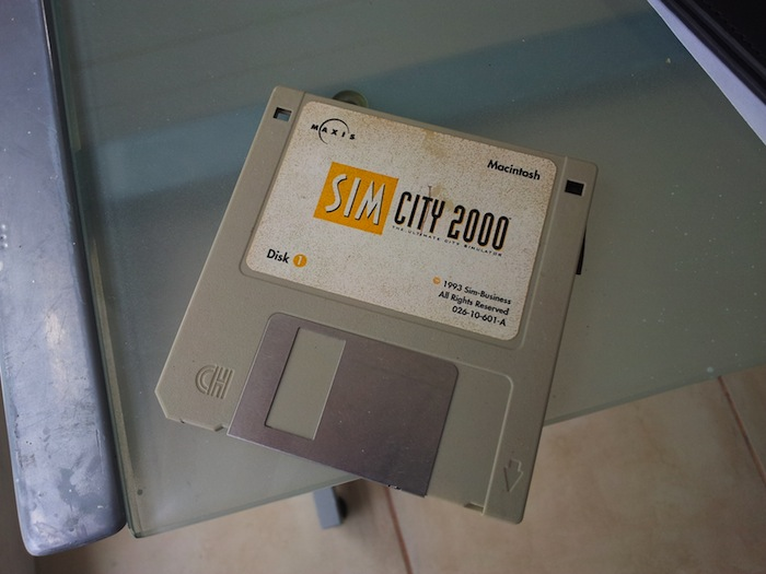 SimCity 2000 on a floppy disk mac