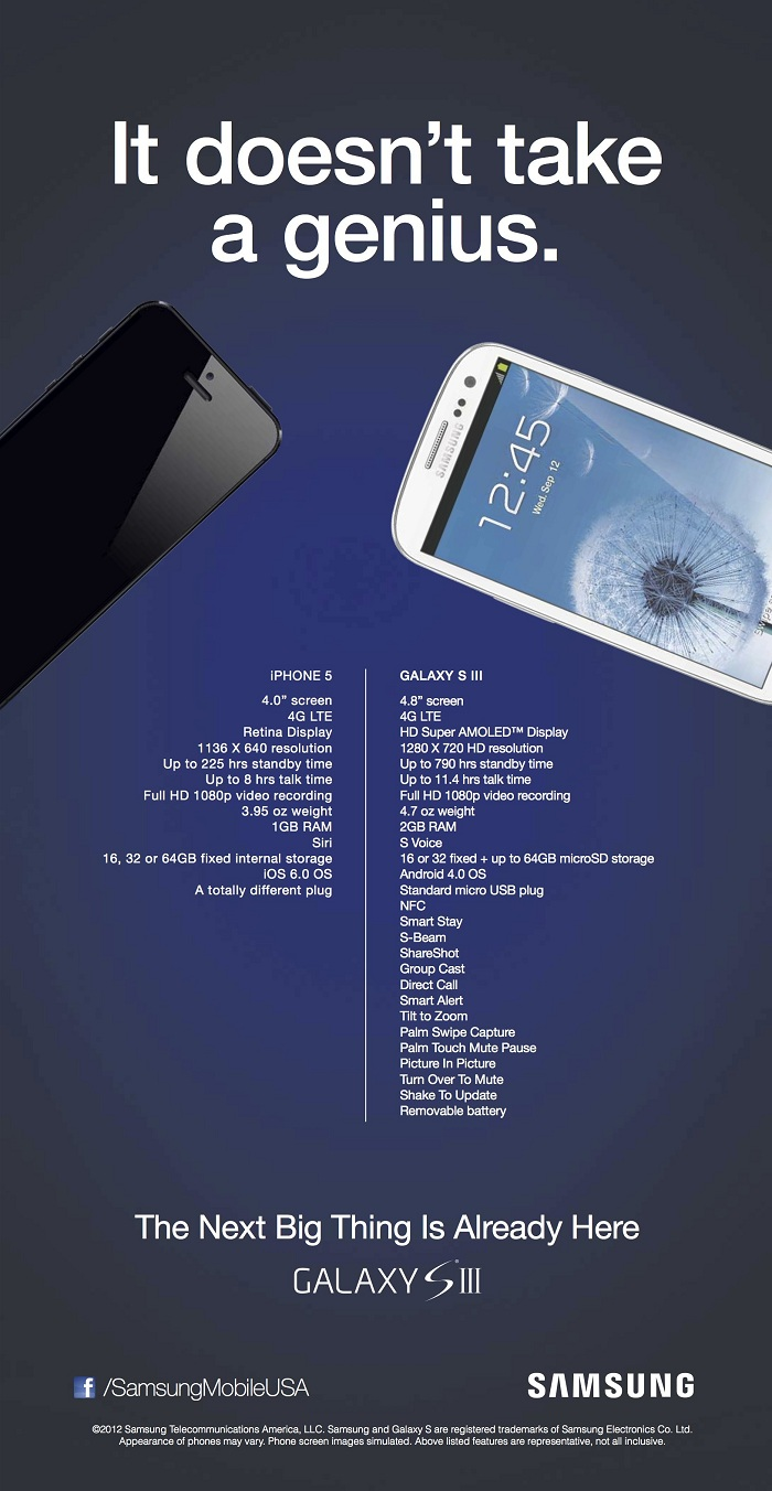 Samsung Ad to fight release of iPhone5